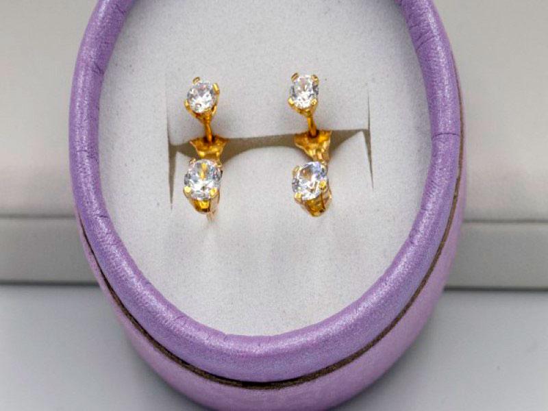 χρυσά σκουλαρίκια κ14