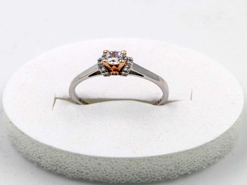 λευκόχρυσο δακτυλίδι κ14